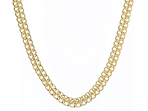 Photo of Moda Al Massimo® 18k Yellow Gold Over Bronze 8.5mm Sedusa Link 20 Inch Chain Necklace - Size 20