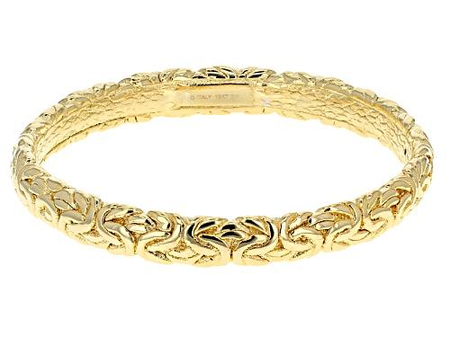 Photo of Moda Al Massimo® 18k Yellow Gold Over Bronze Artformed Byzantine Link 8 Inch Bangle Bracelet - Size 8