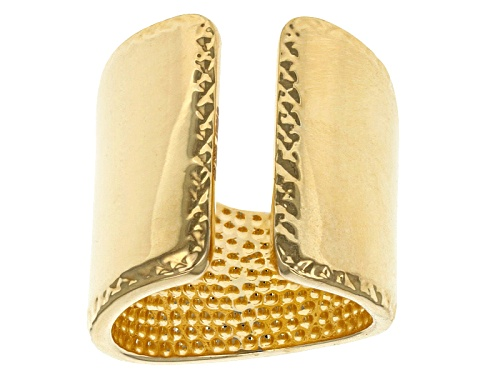 Photo of Moda Al Massimo® 18k Yellow Gold Over Bronze Split Band Ring - Size 4