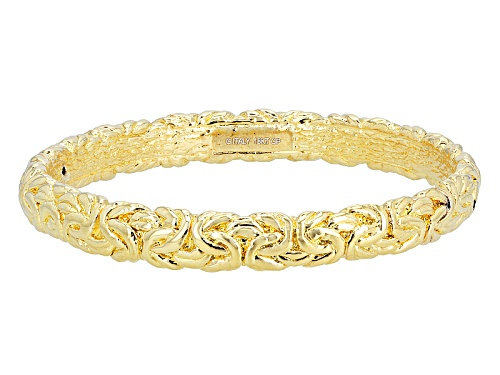 Photo of Moda Al Massimo® 18k Yellow Gold Over Bronze Byzantine Link 8 Inch Bangle Bracelet - Size 8