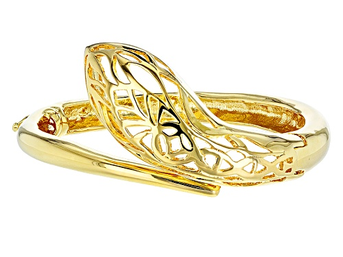 Moda Al Massimo® 18k Yellow Gold Over Bronze Snake 8 Inch Bracelet - Size 8