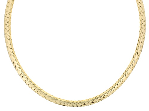 Photo of Moda Al Massimo® 18k Yellow Gold Over Bronze Woven 18 Inch Necklace - Size 18