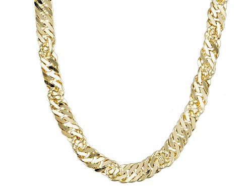 Photo of Moda Al Massimo® 18k Yellow Gold Over Bronze Singapore 28 Inch Chain Necklace - Size 28