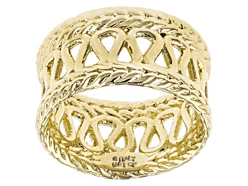 Moda Al Massimo® 18k Yellow Gold Over Bronze Rope Band Ring - Size 7