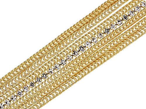 Photo of Moda Al Massimo® 0.4ctw Bella Luce® 18k Yellow Gold Over Bronze 7 1/2 Inch Bracelet - Size 7.5