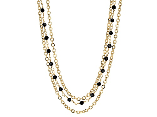Photo of Moda Al Massimo® 18k Yellow Gold Over Bronze Multi-Strand Bead Station 22 Inch Necklace - Size 22