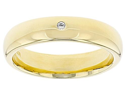 Photo of Moda Al Massimo®  0.015ctw Bella Luce® Diamond Simulant 18k Yellow Gold Over Bronze Band Ring - Size 7