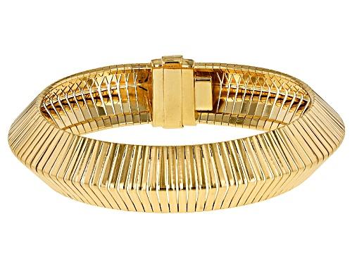 Photo of Moda Al Massimo® 18k Yellow Gold Over Bronze Omega 7 1/2 Inch Bracelet - Size 7.5