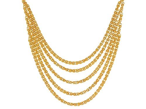 Photo of Moda Al Massimo® 18k Yellow Gold Over Bronze Multi-Strand Byzantine 20 Inch Necklace - Size 20
