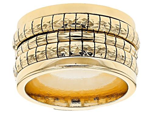 Photo of Moda Al Massimo® 18k Yellow Gold Over Bronze Diamond Cut Cubetto Band Ring - Size 7