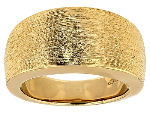 Photo of Moda Al Massimo® 18k Yellow Gold Over Bronze Satin Cigar Band Ring - Size 5