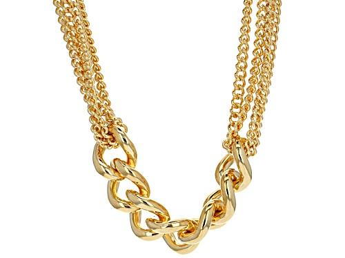 Photo of Moda Al Massimo® 18k Yellow Gold Over Bronze Grande Curb 20 1/4 Inch Necklace