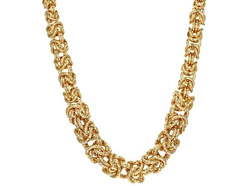 Photo of Moda Al Massimo® 18k Yellow Gold Over Bronze Graduated Byzantine 18 Inch Necklace - Size 18