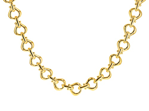 Photo of Moda Al Massimo® 18k Yellow Gold Over Bronze Stirrup 19 Inch Necklace - Size 19