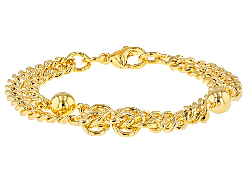 Photo of Moda Al Massimo® 18k Yellow Gold Over Bronze Rosetta Station 7 Inch Bracelet - Size 7