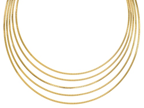 Photo of Moda Al Massimo® 18k Yellow Gold Over Bronze Multi-Row Graduated Curbetto 17 Inch Necklace - Size 17
