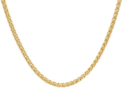 Photo of Moda Al Massimo® 18k Yellow Gold Over Bronze Spiga Bolo 29 Inch Necklace