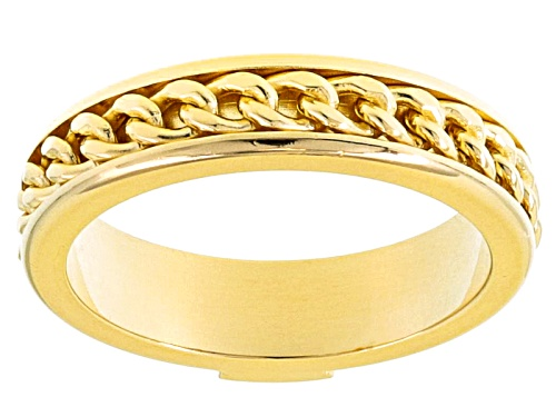 Photo of Moda Al Massimo® 18k Yellow Gold Over Bronze Curb Band Ring - Size 7