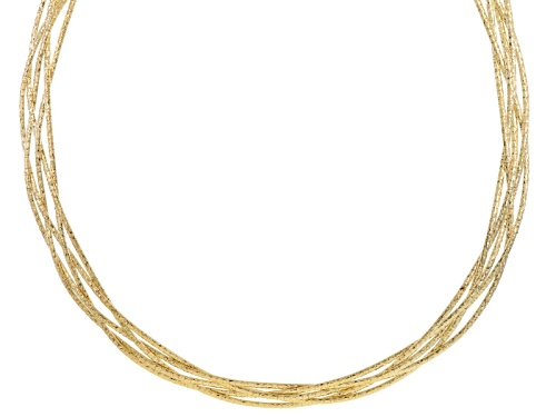Photo of Moda Al Massimo® 18k Yellow Gold Over Bronze Multi-Row Braided 18 Inch Necklace - Size 18