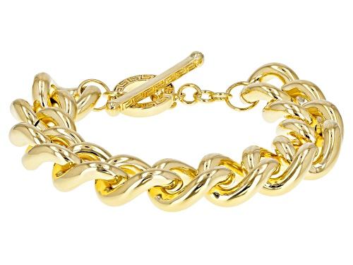 Photo of Moda Al Massimo® 18k Yellow Gold Over Bronze Grande Curb 9.25 Inch Bracelet