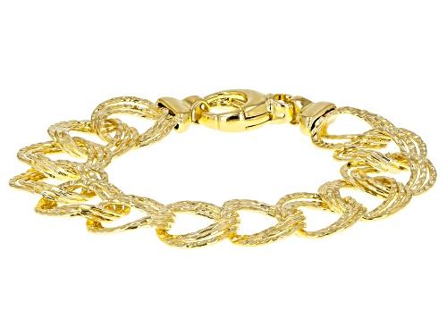 Photo of Moda Al Massimo® 18k Yellow Gold Over Bronze Diamond Cut Garibaldi 8.25 Inch Bracelet - Size 8.25