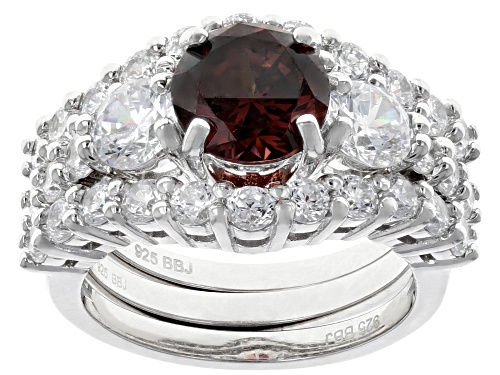 Photo of Bella Luce ® 8.41CTW Esotica ™ Blush Zircon And White Diamond Simulants Rhodium Ring With Bands - Size 8
