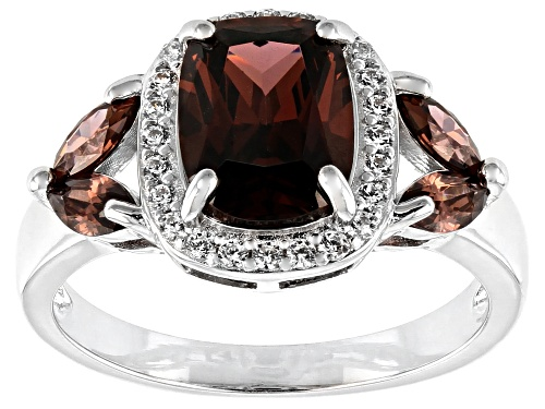Photo of Bella Luce ® 4.61ctw Esotica ™ Blush Zircon and White Diamond Simulants Rhodium Over Sterling Ring - Size 8