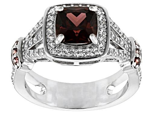 Photo of Bella Luce ® 3.65ctw Esotica ™ Blush Zircon and White Diamond Simulants Rhodium Over Sterling Ring - Size 6