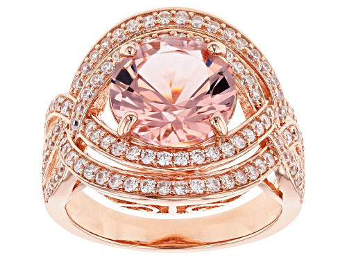 Photo of Bella Luce ® Esotica ™ 5.16ctw Pink Morganite and White Diamond Simulants Eterno ™ Rose Ring - Size 7