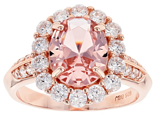 Photo of Bella Luce ® Esotica ™ 4.60ctw Pink Morganite and White Diamond Simulants Eterno ™ Rose Ring - Size 7