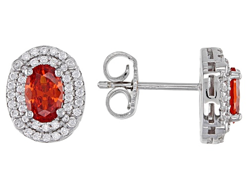 Photo of Bella Luce(R) Esotica(TM) Spess Garnet and White Diamond Simulants Rhodium Over Sterling Earrings