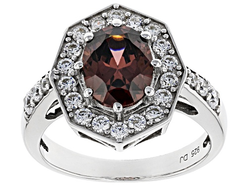Photo of Bella Luce ® 4.45ctw Esotica ™ Blush Zircon and White Diamond Simulants Rhodium Over Sterling Ring - Size 8