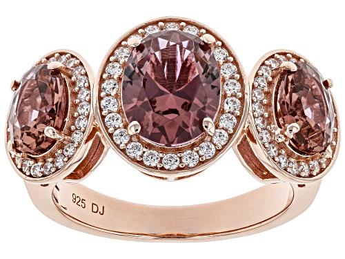 Photo of Bella Luce ® 2.88ctw Esotica ™ Blush Zircon and White Diamond Simulants Eterno ™ Rose Ring - Size 8