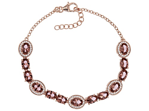 Photo of Bella Luce ® 11.39ctw Esotica™ Blush Zircon and White Diamond Simulants Eterno™ Rose Bracelet - Size 7.5