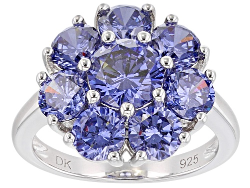 Photo of Bella Luce ® 8.07ctw Esotica ™ Tanzanite Simulant Rhodium Over Sterling Silver Ring - Size 7