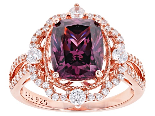 Photo of Bella Luce ® 6.28ctw Esotica ™ Blush Zircon and White Diamond Simulants Eterno ™ Rose Ring - Size 8