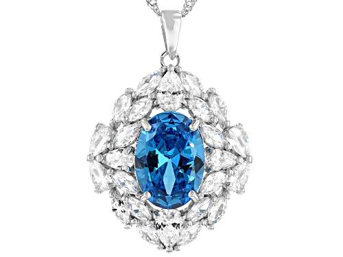 Photo of Bella Luce®Esotica™Neon Apatite and White Diamond Simulants Rhodium Over Silver Pendant With Chain