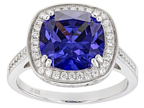 Photo of Bella Luce ® Esotica ™ 8.33ctw Tanzanite and White Diamond Simulants Rhodium Over Silver Ring - Size 8