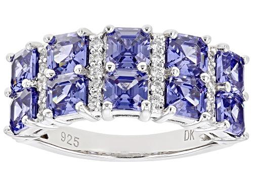 Photo of Bella Luce ® Esotica™ 6.22ctw Tanzanite And White Diamond Simulants Rhodium Over Silver Ring - Size 6