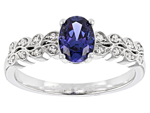 Photo of Bella Luce® Esotica™ 1.25ctw Tanzanite And White Diamond Simulants Rhodium Over Sterling Silver Ring - Size 7