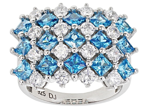 Photo of Bella Luce ® Esotica™ Neon Apatite And White Diamond Simulants Rhodium Over Silver Ring 5.62ctw - Size 7