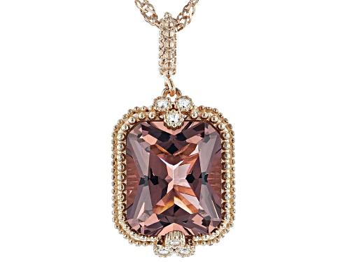 Photo of Bella Luce ® Esotica™ Blush Zircon And White Diamond Simulants Eterno™ Rose Pendant With Chain
