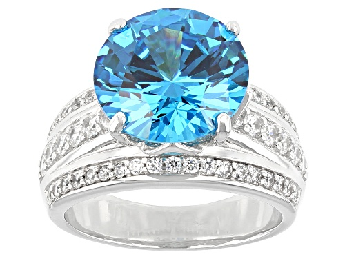 Photo of Bella Luce ® Esotica™ 13.15ctw Neon Apatite And White Diamond Simulants Rhodium Over Silver Ring - Size 8