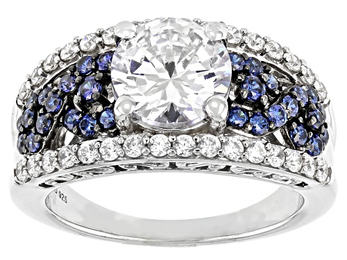 Photo of Bella Luce ® Esotica™ 5.25ctw Tanzanite And White Diamond Simulants Rhodium Over Silver Ring - Size 6