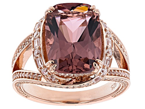 Bella Luce ® Esotica™ 7.88ctw Blush Zircon And White Diamond Simulants Eterno™ Rose Ring - Size 5