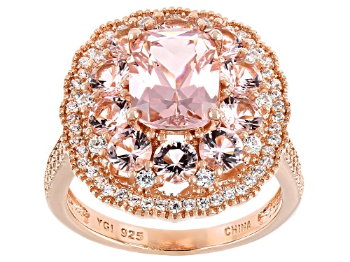 Photo of Bella Luce ® Esotica™ 3.60ctw Morganite And White Diamond Simulants Eterno™ Rose Ring - Size 6
