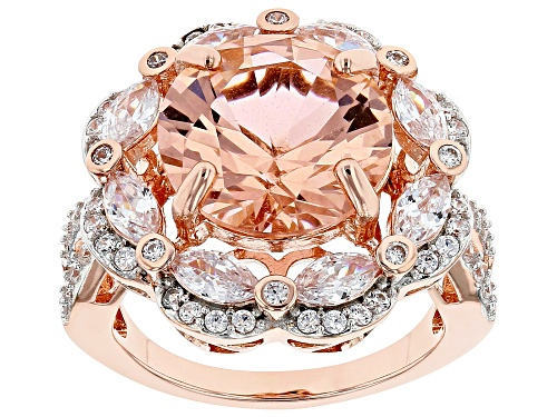 Photo of Bella Luce ® Esotica™ 10.61ctw Morganite And White Diamond Simulants Eterno™ Rose Ring - Size 5