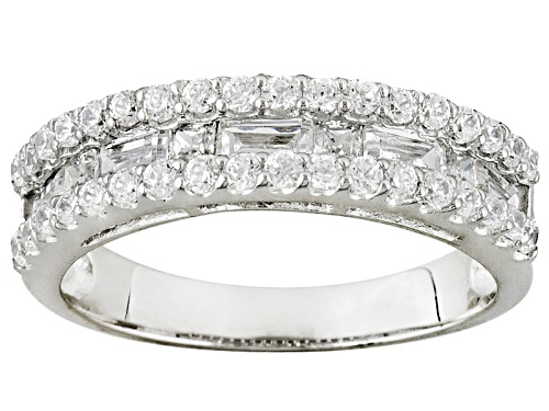 Photo of Bella Luce ® 1.46ctw Round And Baguette Platineve® Band - Size 8