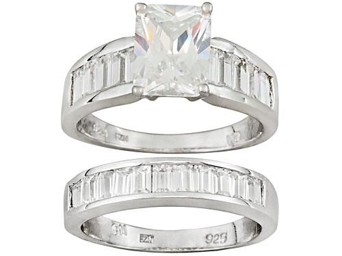 Photo of Bella Luce ® 9.41ctw Rhodium Over Sterling Silver Ring With Band - Size 10