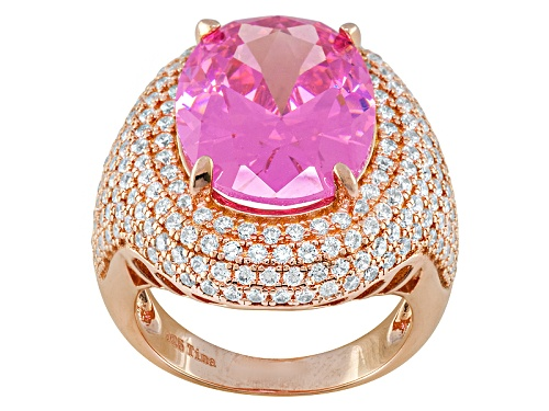 Photo of Bella Luce ® 17.36ctw Pink & White Diamond Simulant 18k Rose Gold Over Sterling Silver Ring - Size 5
